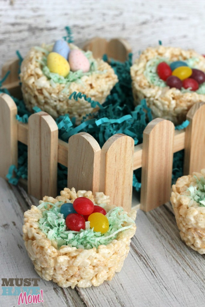 Rice Krispie Easter Baskets with Jolly Rancher Jelly Beans