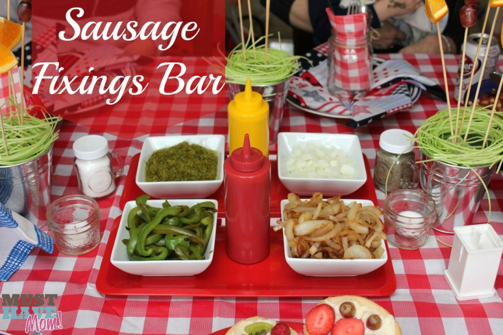 BBQ - Sausage Fixings Bar - Must Have Mom