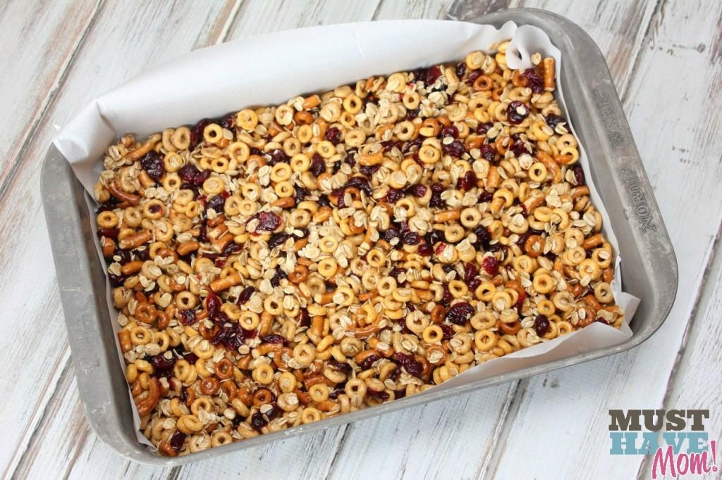 Cranberry Pretzel Cheerio Bars