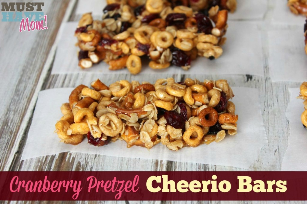 Cranberry Pretzel Cheerio Bars Recipe - Must Have Mom