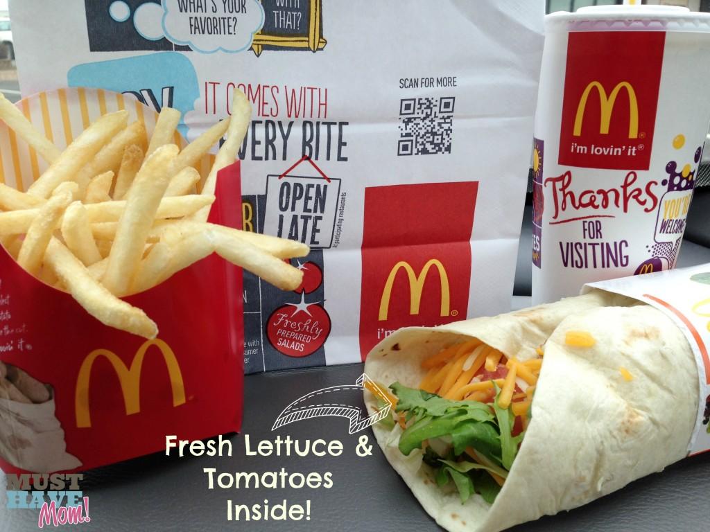 McDonald's Wrap - Fresh Produce Inside