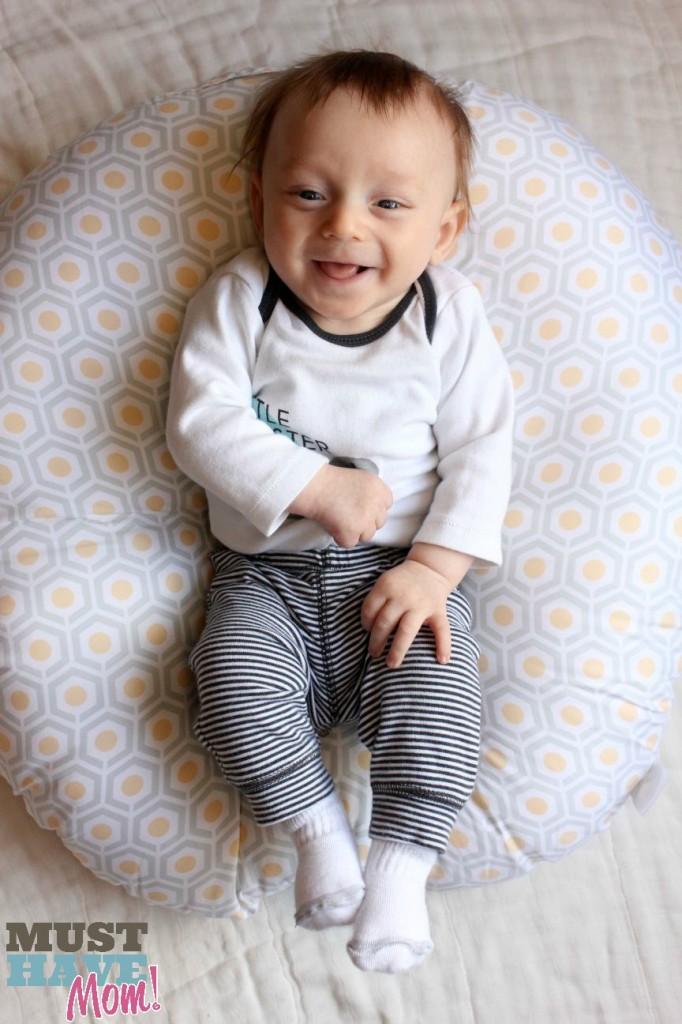 Brady in Boppy Newborn Lounger - Must Have Mom