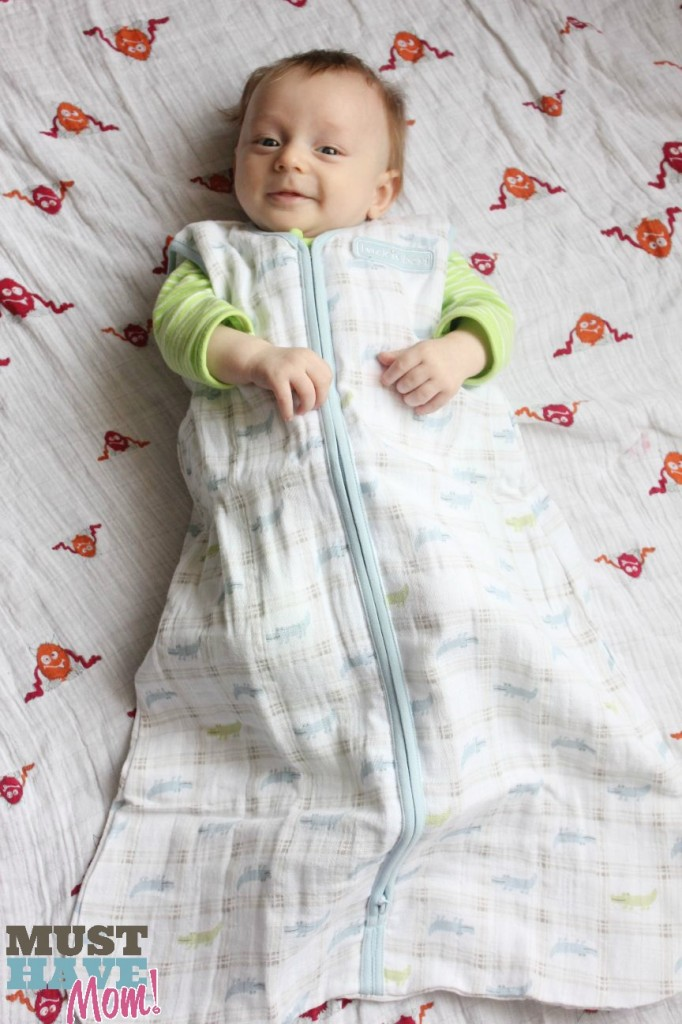 Brady in Halo Muslin SleepSack - Must Have Mom
