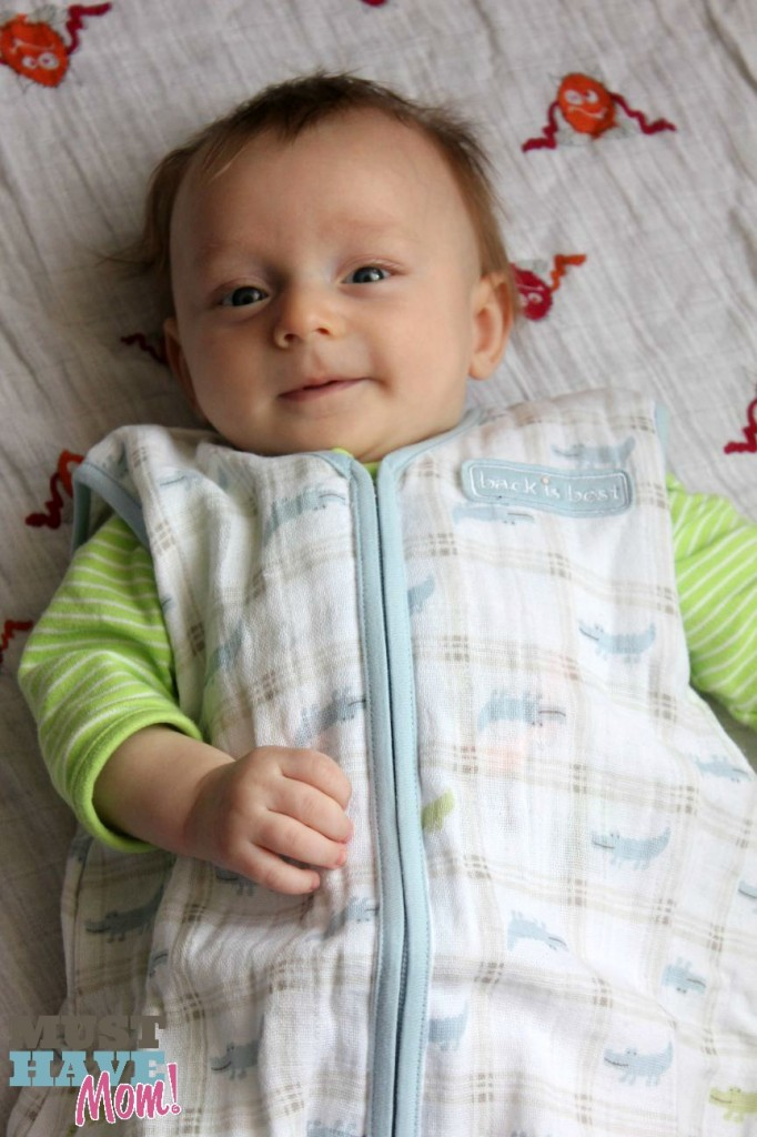 Brady in Halo SleepSack - Safe Sleep Tips for Baby - Must Have Mom