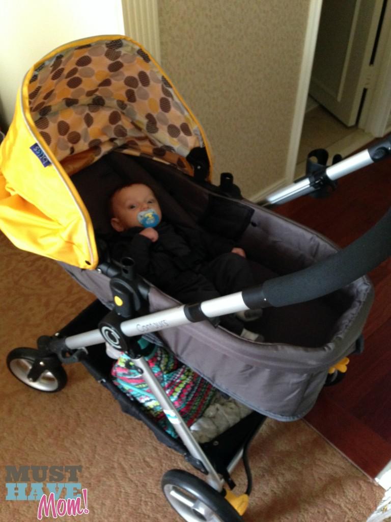 Brady in the #ContoursBliss Stroller