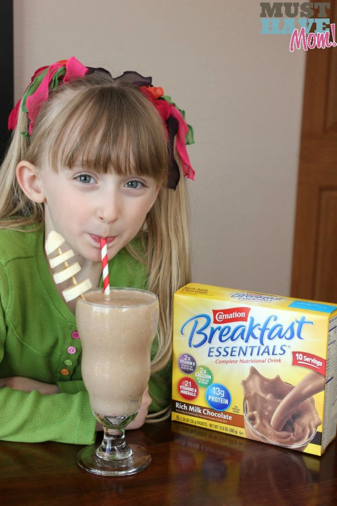 Carnation Breakfast Essentials Chocolate Banana Oatmeal Breakfast Smoothie - Must Have Mom