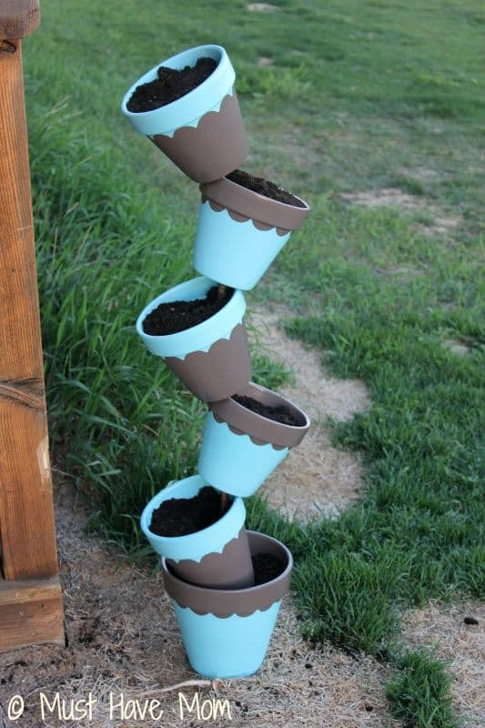 DIY Topsy Turvey Flower Planter Step 8 - Must Have Mom
