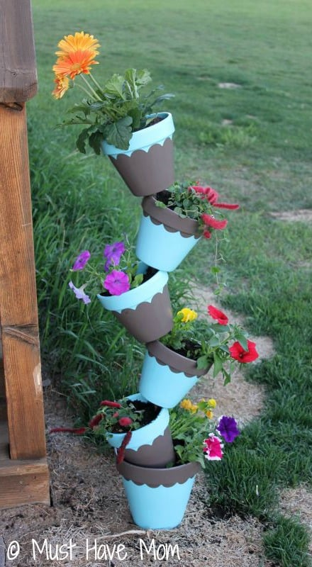 DIY Topsy Turvey Flower Planter Step 9 - Must Have Mom