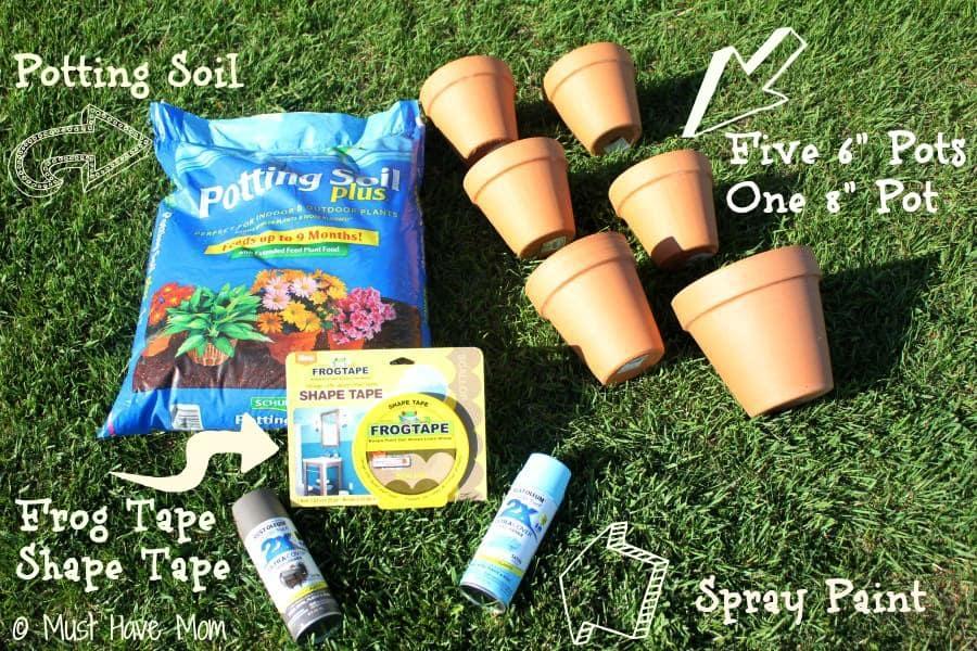 DIY Topsy Turvy Flower Planter - Supplies