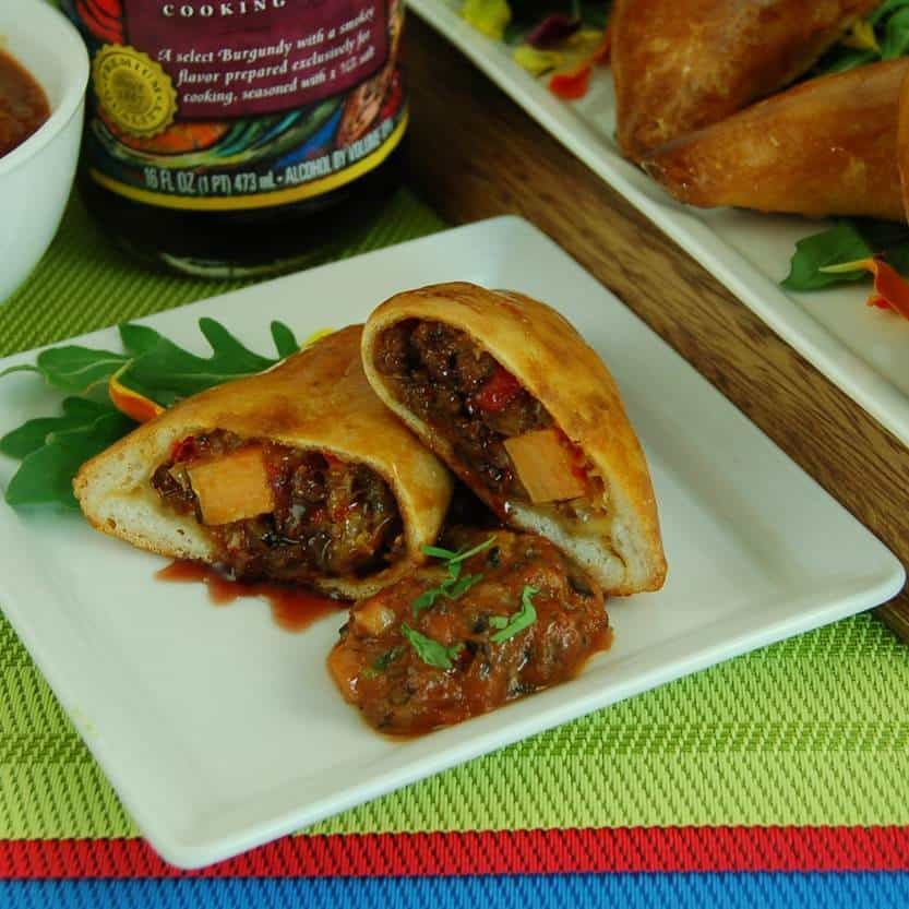Stuffed Empanadas with Braised Burgundy Beef Picadillo and Queso ...