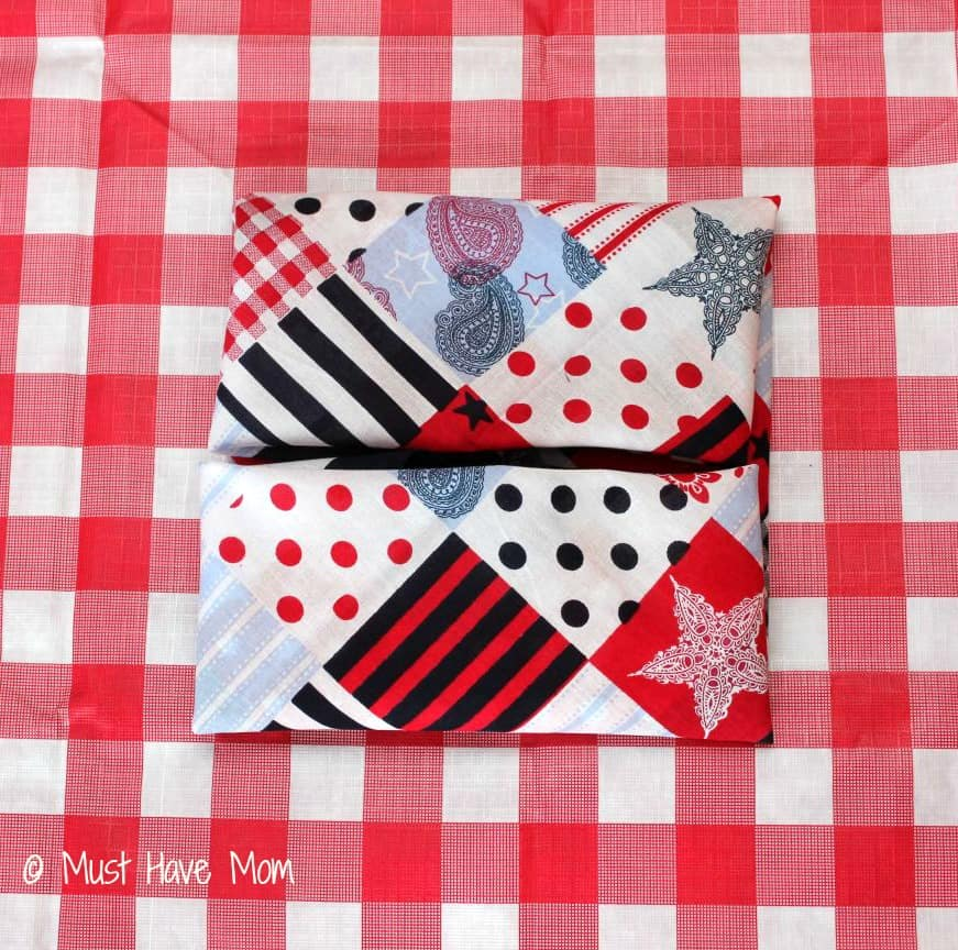 How to fold a pinwheel napkin Step 4 - Must Have Mom