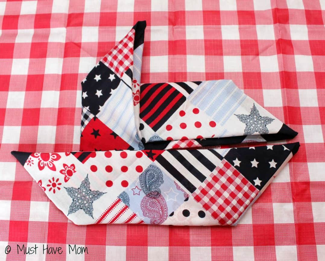How to fold a pinwheel napkin Step 9 - Must Have Mom