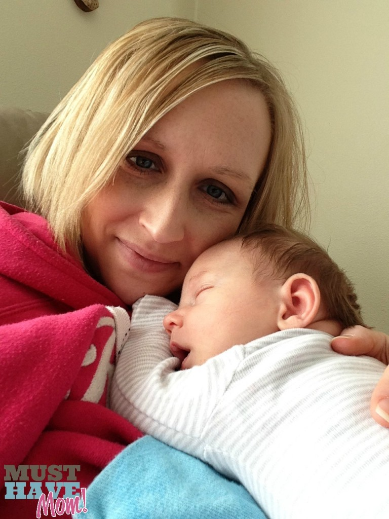Sarah and Brady 1 month old - Must Have Mom #WeightWatchers