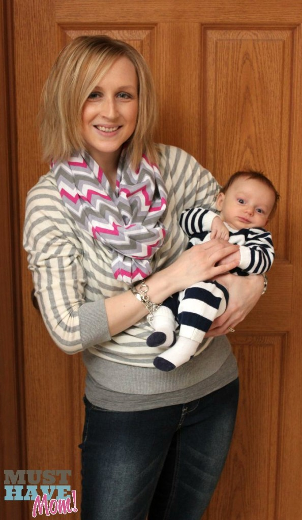 Sarah and Brady in Itzy Ritzy Nursing Scarf