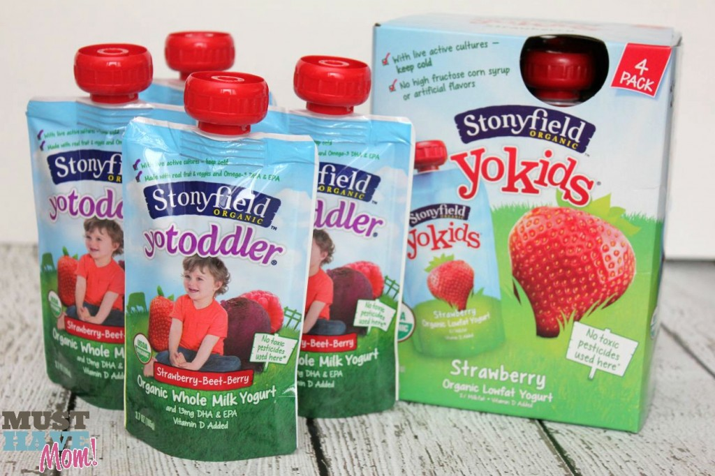 Stonyfield Organic Yogurt Pouches - Must Have Mom
