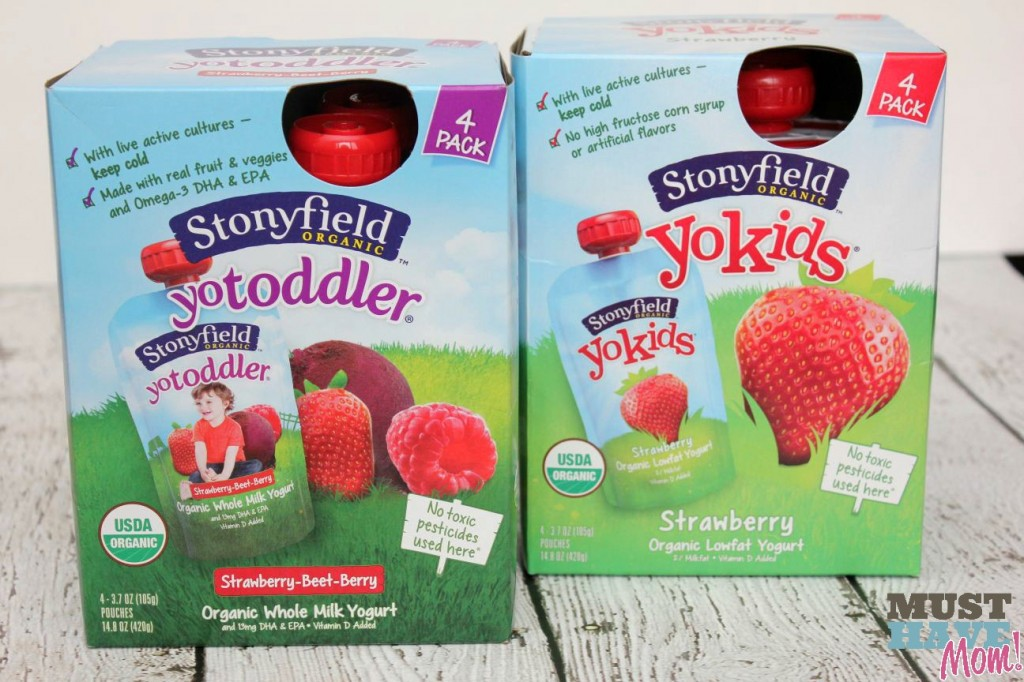 Stonyfield Yogurt Pouches - Must Have Mom