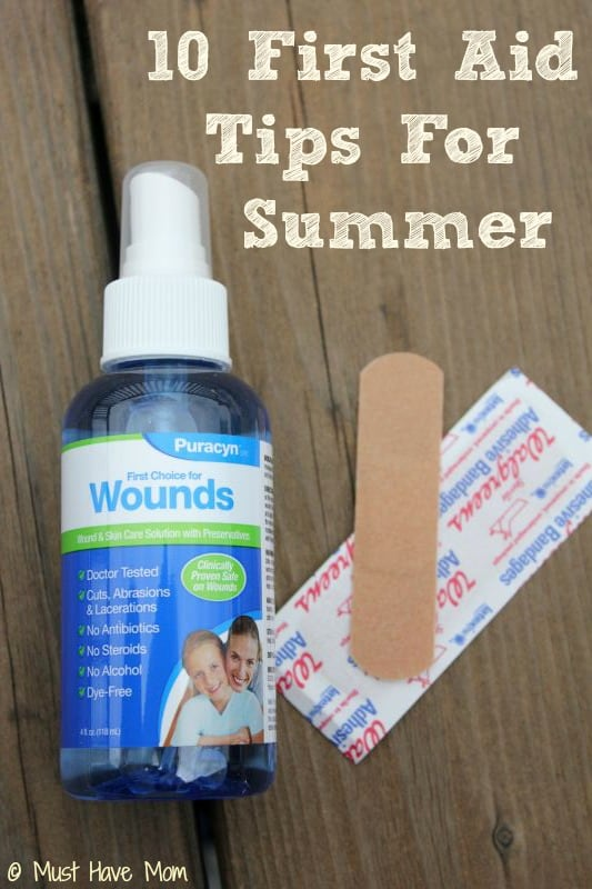 10 First Aid Tips For Summer - Must Have Mom