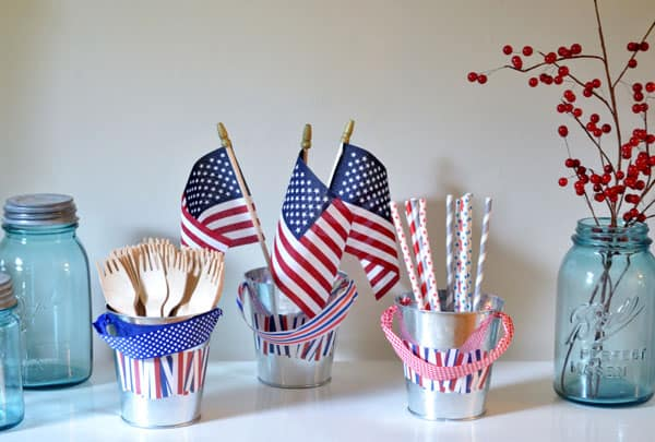 4th of july pails