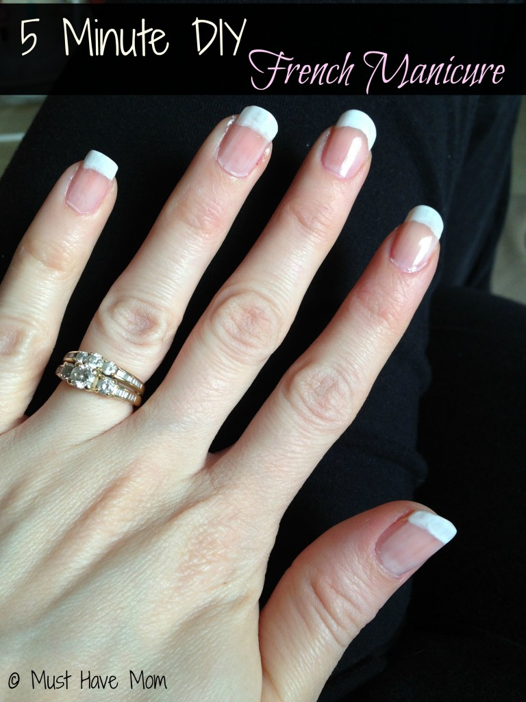 5 Minute DIY French Manicure + DIY Nail Art
