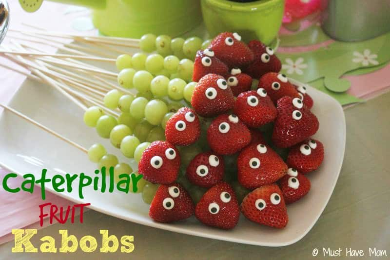 Caterpillar Fruit Kabobs Party Food Idea - Must Have Mom