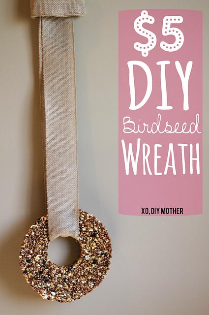 $5 DIY Birdseed Wreath Tutorial
