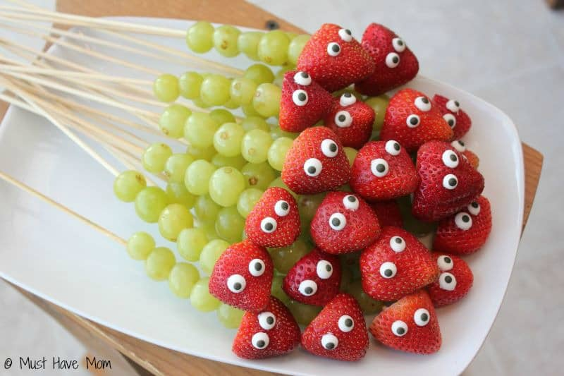 Fruit Caterpillar Kabobs - Must Have Mom