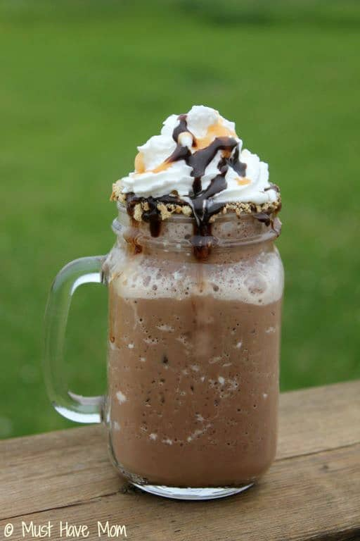 Rolo S'mores Frozen Hot Chocolate Recipe - Must Have Mom