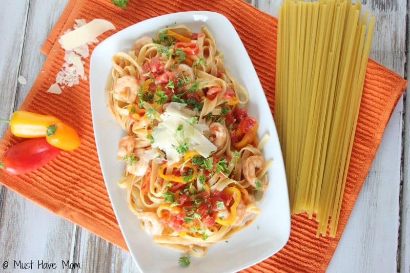 Spicy Shrimp & Pepper Pasta Recipe - Easy Weeknight Meal