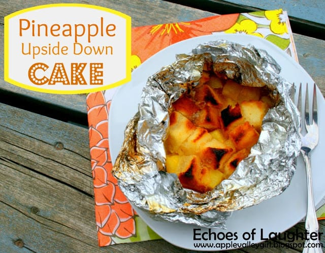 campout food Camping Recipes Pineapple Upside Down Cake