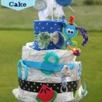 15 Minute Diaper Cake Tutorial Using Diaper Genie Refills & Just 17 Diapers!