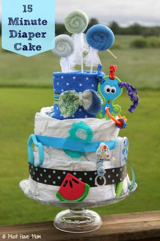 15 Minute Diaper Cake Tutorial - Must Have Mom