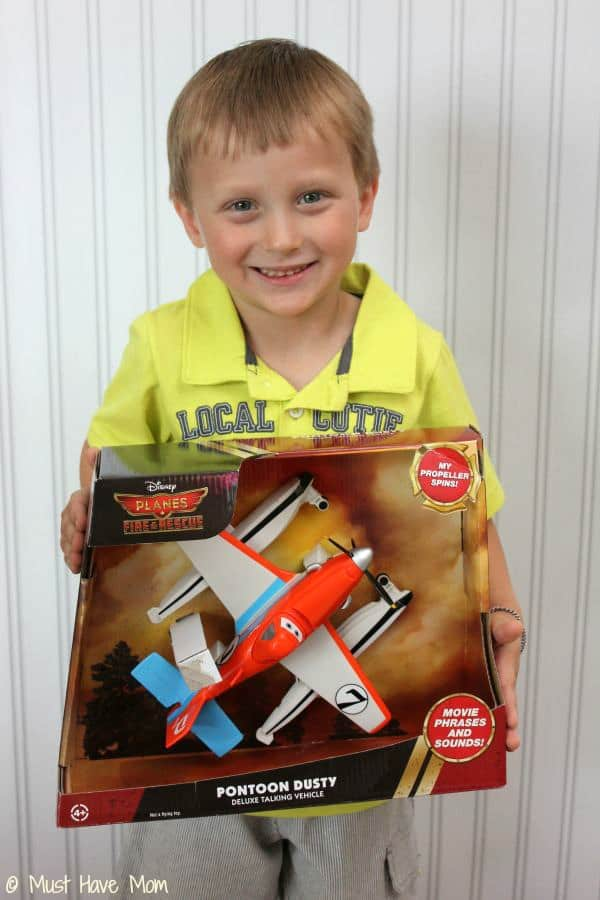Aiden with #PlanestotheRescue Pontoon Dusty Plane - Must Have Mom