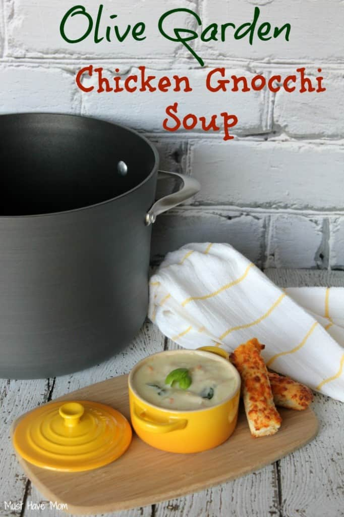 Copycat Olive Garden Chicken Gnocchi Soup Recipe - Must Have Mom