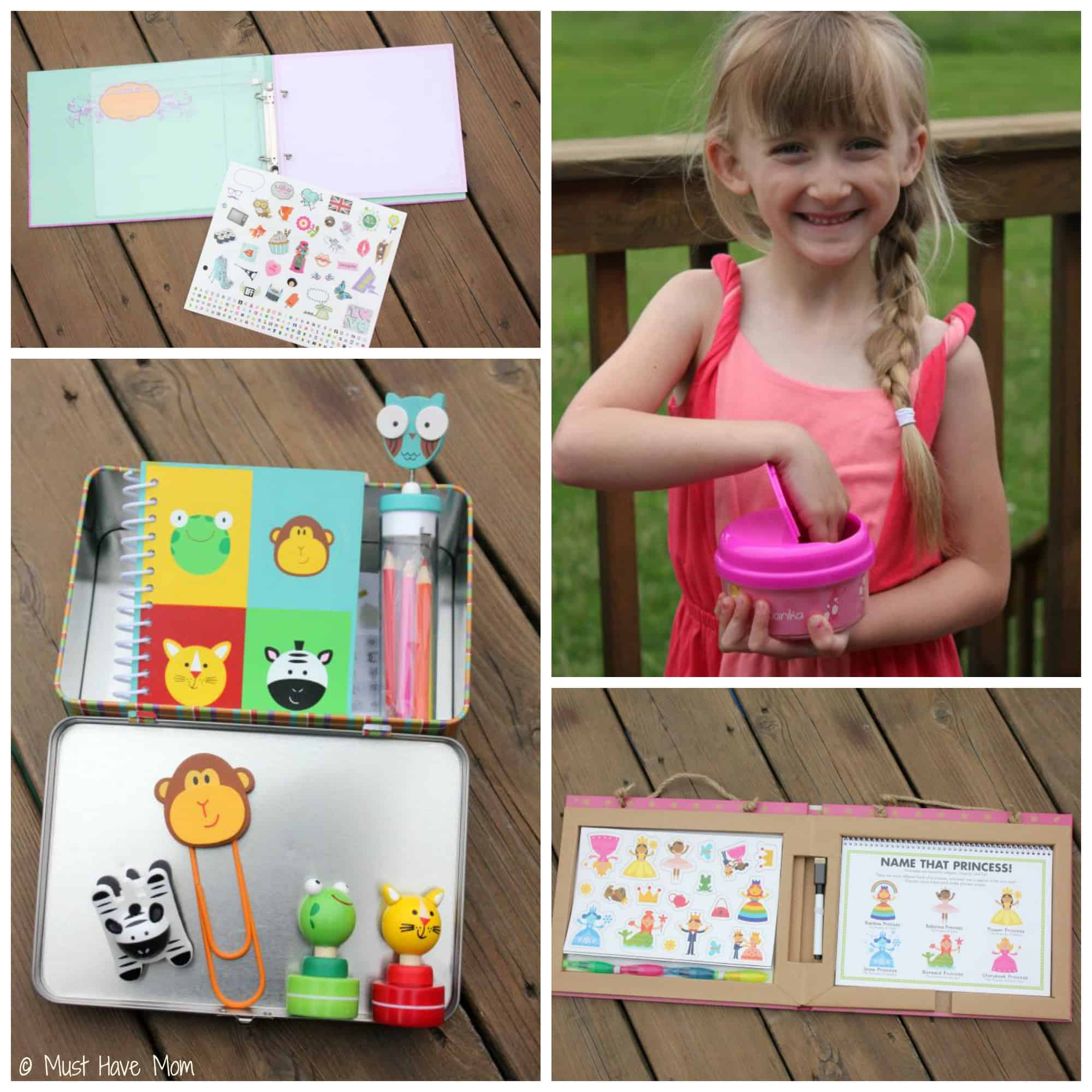 DIY Road Trip Kits for 6 Year Olds