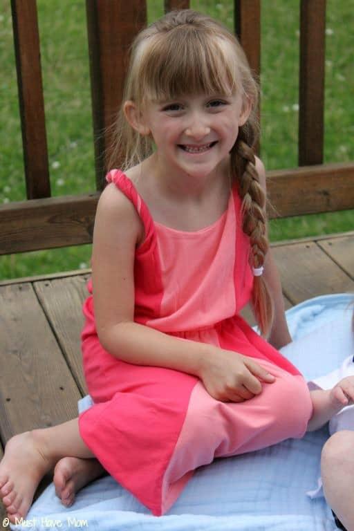 Danika in Gymboree Colorblocked Maxi Dress