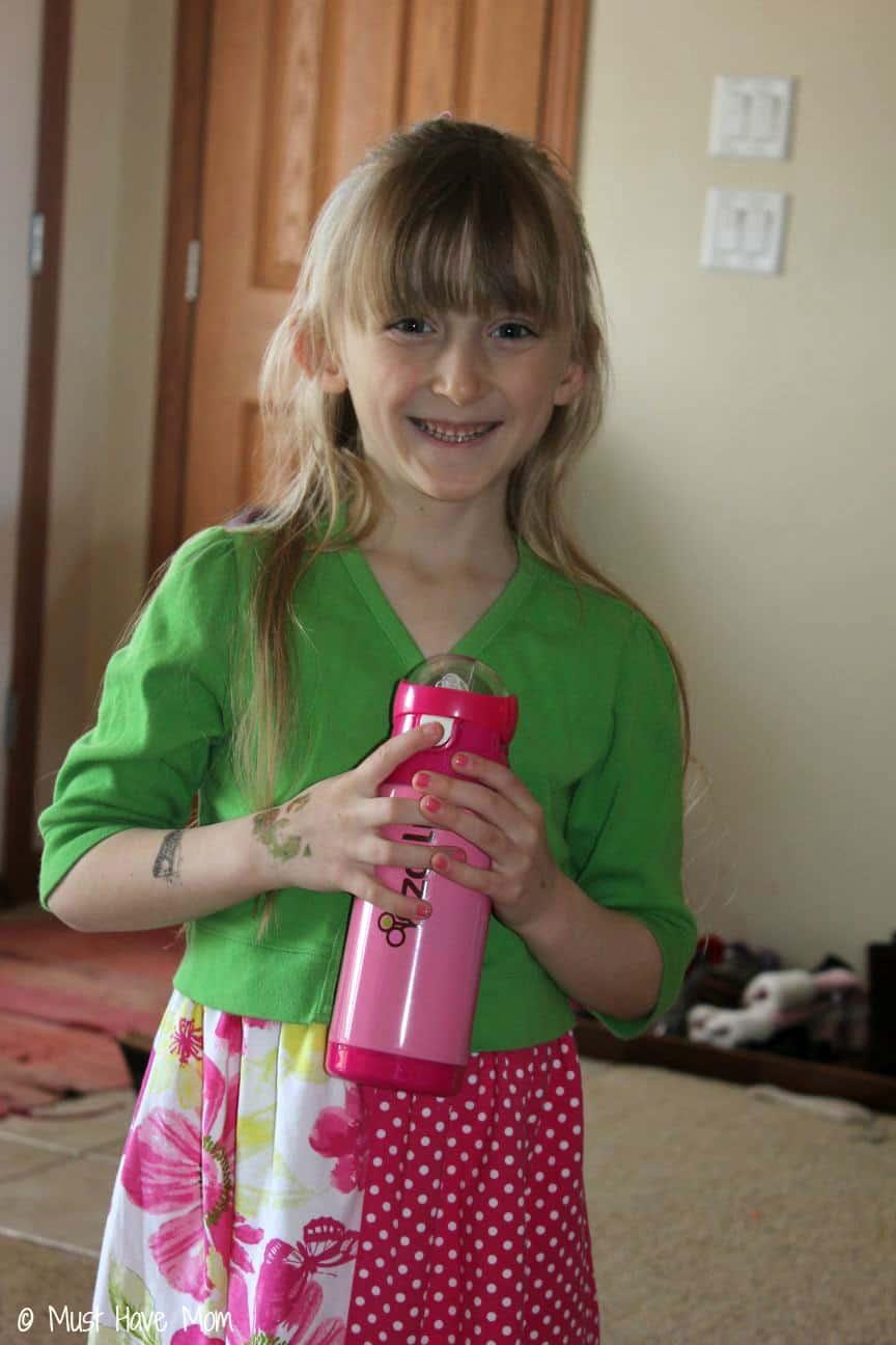 Danika with Zoli Water Bottle