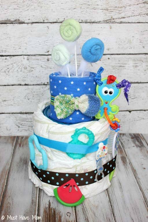 Diaper Genie Diaper Cake Step 5