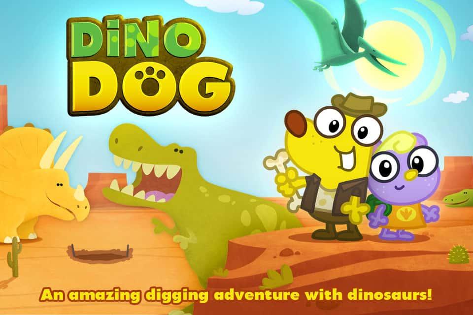 Dino Dog App Digging Adventure