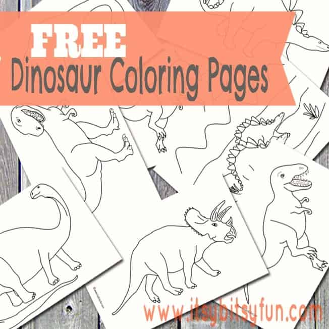 Free Dinosaur Coloring Pages