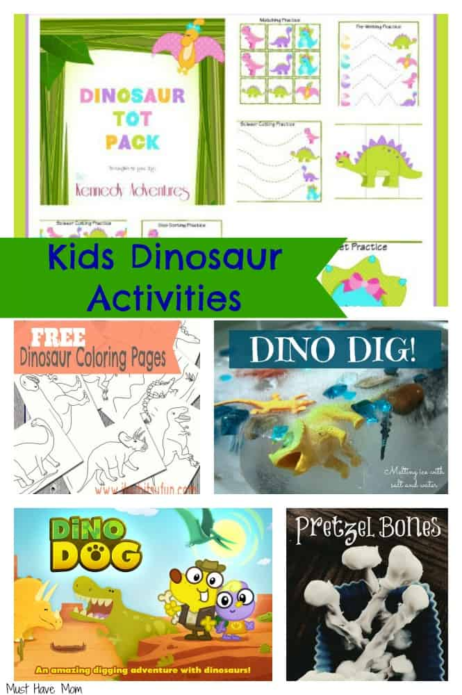 Kids Dinosaur Activities ~ Have Your Own Dinosaur Themed Day!