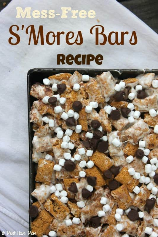 Mess-Free S'Mores Bars Recipe - Must Have Mom #GoodNightSnack #Shop