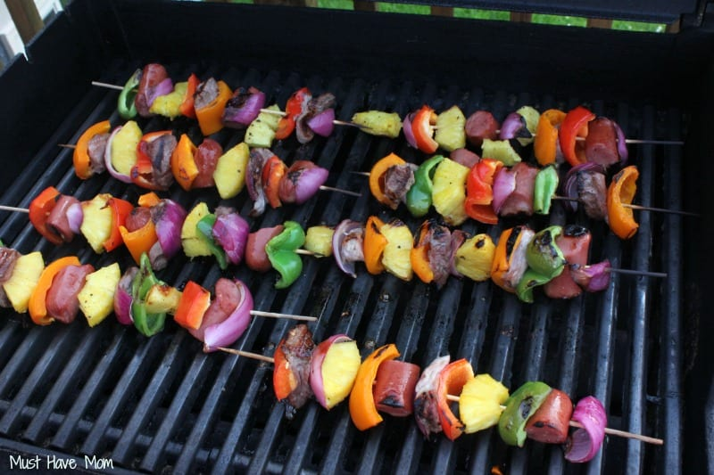 Pineapple, Pork & Sausage Kabobs on the Grill - Must Have Mom