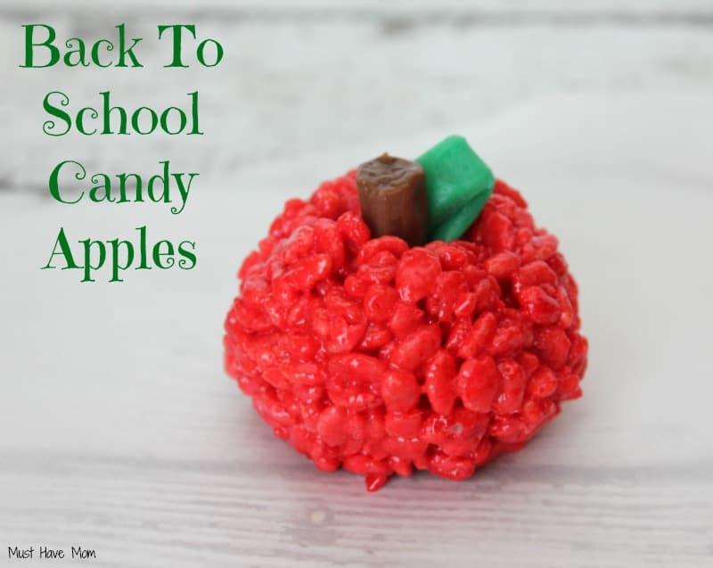 Back to School Party Candy Apples Recipe #AfterSchoolSnacks #Shop