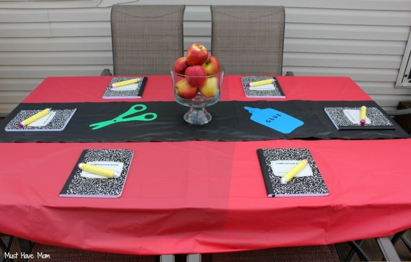 Backyard Back To School Party Table Ideas