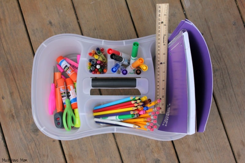 DIY Homework Kit tutorial -musthavemom.com