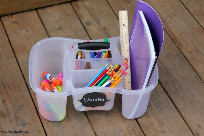 DIY Portable Homework Station -musthavemom.com