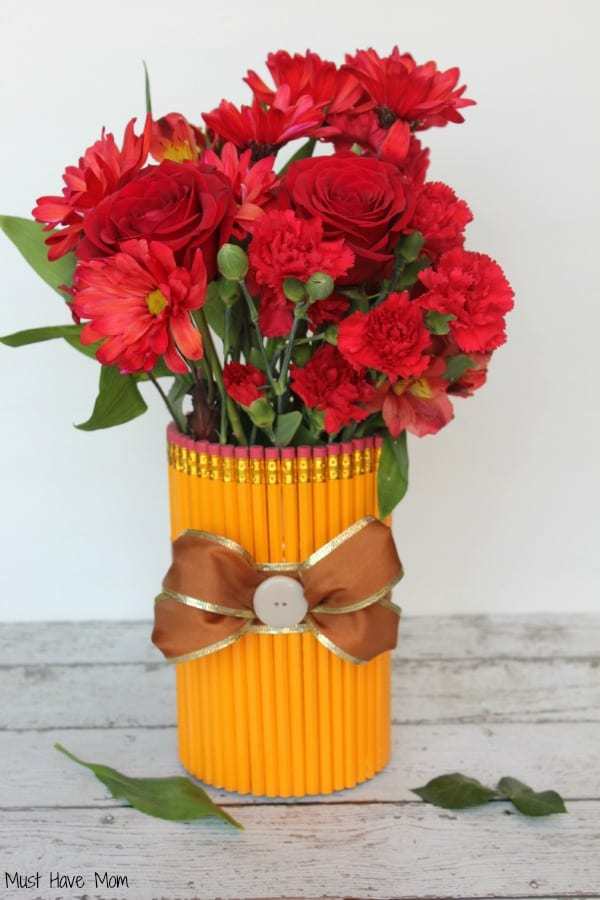 DIY Pencil Vase Teacher Gift
