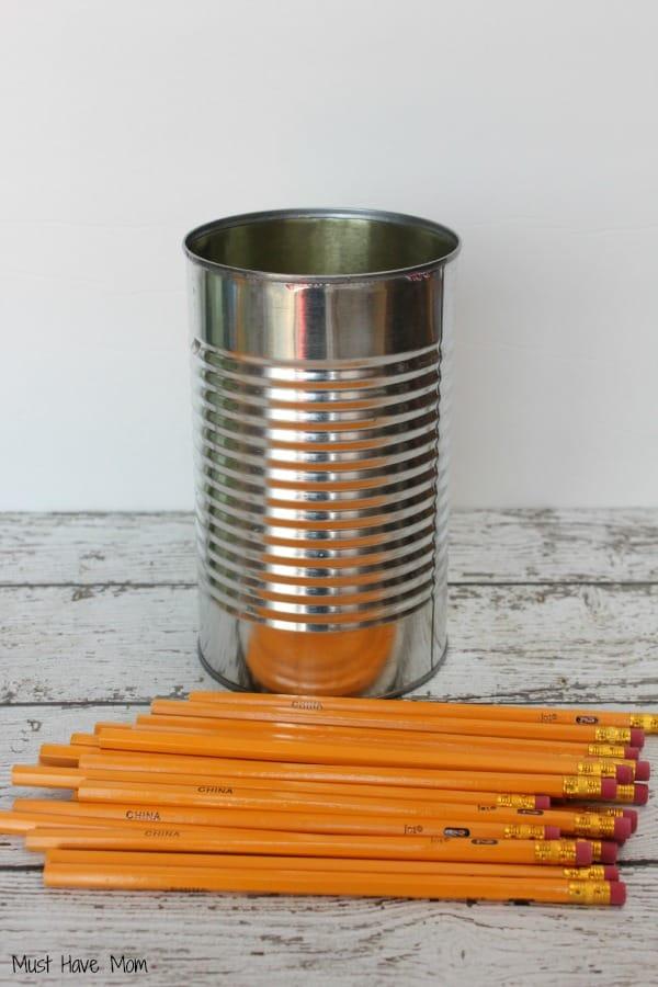 DIY Teacher Gift Pencil Vase Step 1