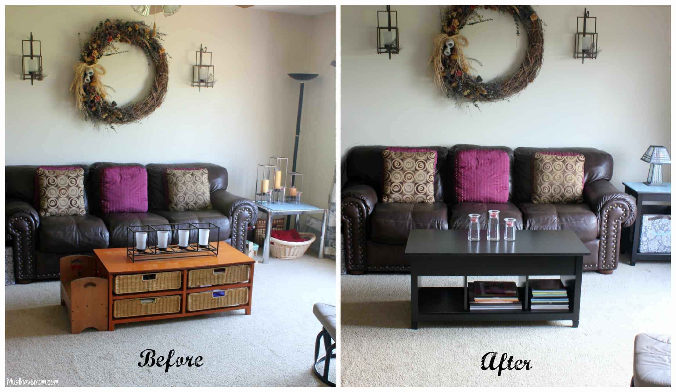 Small living room makeover before and after modern house for Living room makeovers