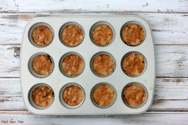 Picky Eater Muffins with cinnamon topping